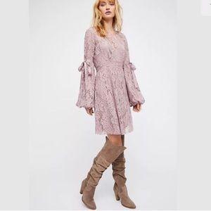 Free People Ruby Crochet Lace Boho Mini Dress